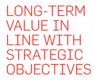 Long-term value in line with strategic objectives